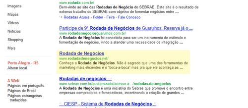 Rodada de Negócios no Google